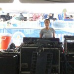 Tina is one of the Euro Express Band sound techs.
