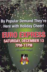 Euro Express Band plays Mirabell Restaurant- Dec 13th