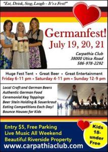Euro Express Band plays Carpathia Club Germanfest – July 20th