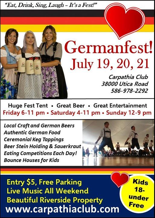 Euro Express Band plays Carpathia Club Germanfest – July 20th